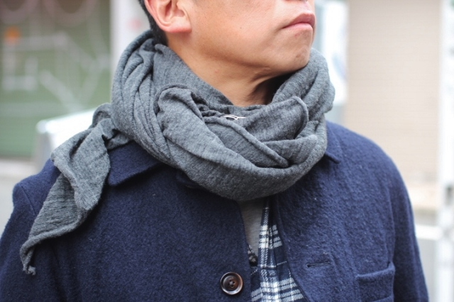 天空丸Wool Top Gauze Scarf
