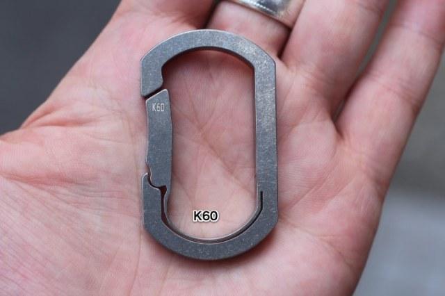 BAUHAUS Titanium Key Carabiner K type