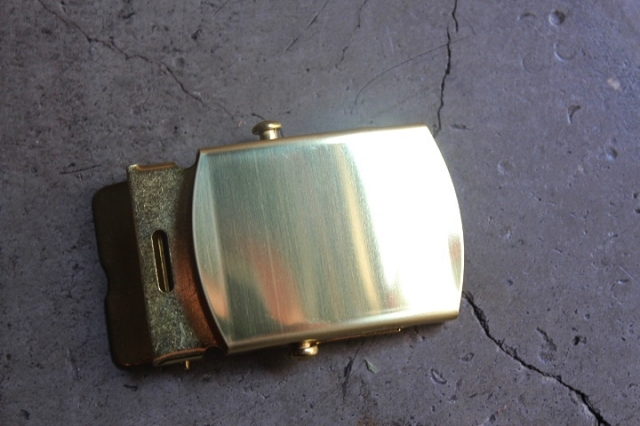 Solid Brass Web Belt Buckle