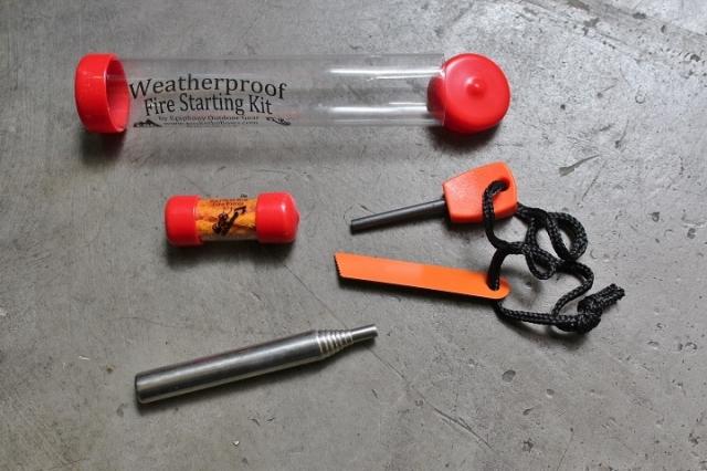 Weatherproof Fire Starting Kit